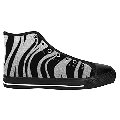Dalliy zebra stripe Kids Canvas shoes Schuhe Lace-up High-top Footwear Sneakers C