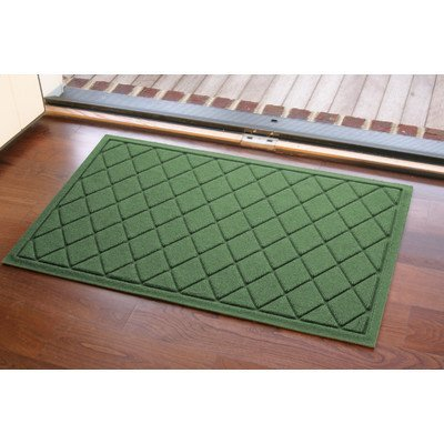 Aqua Shield Argyle Mat Color: Light Green by Bungalow Argyle-shield