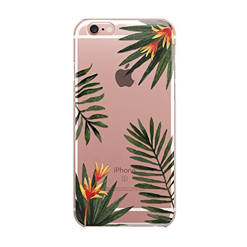 Blitz® ALOHA motifs housse de protection transparent TPE iPhone Flamingo Aloha M16 iPhone 5c paume M5