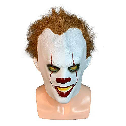 Adult Horror Clown Joker, Latex Kostüm Maske Scary Halloween Cosplay Party Dekoration Requisiten Weiß (Joker Kostüm Weiblich)