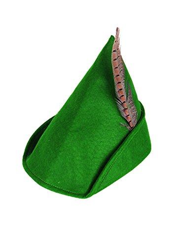 Deluxe Kostüm Adult Robin - GCC Fashion Store Adults Green Deluxe Robin Hood Hat with Feather Book Week Fancy Dress Hat
