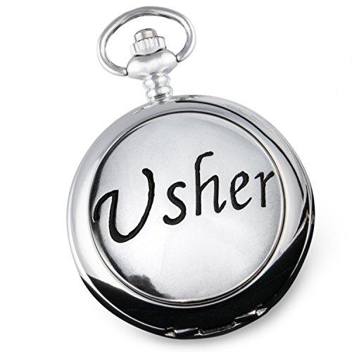 Usher Taschenuhr Geschenk in einer Qualität Box Usher Geschenke für Hochzeiten vom Bride & Groom