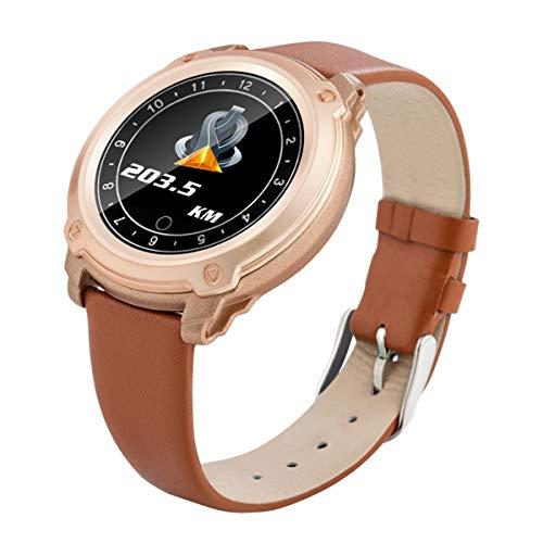 TYWZF Pulsera Actividad Smart Bracelet Smart Watch IP67 Waterproof con La Presión Arterial Heart Rate Monitor para iOS Android,Brown