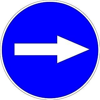 """Akacha Tür-Aufkleber Verkehrsschild """"Fahrtrichtung rechts"""""""