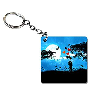 01e09d2b9b Mall at door Couple Keychain for Lovers | Valentine's Day Key Chain | Love  Keyrings for Couples | Designer Wood Keyring | Kiss Day: Amazon.in: Bags,  ...