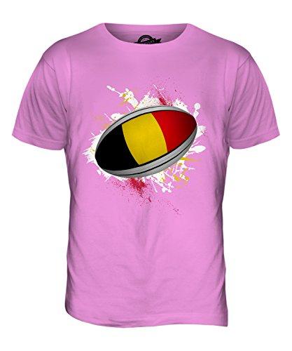 CandyMix Belgien Rugby Ball Herren T Shirt Rosa
