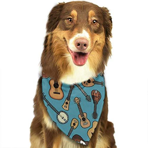 hat-bag Guitar Instrument Music Dog Cat Bandanas Triangle Bibs Scarf Dog Neckerchief Headkerchief Accessories