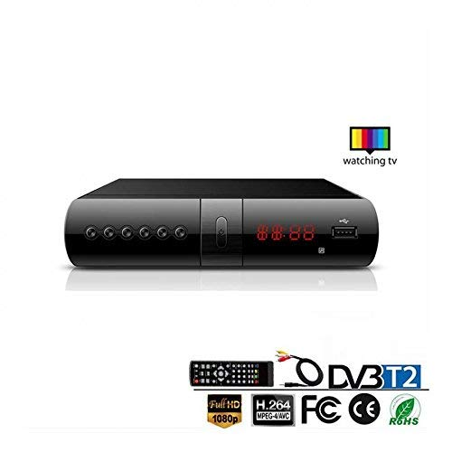 B-black® DECODER RICEVITORE DIGITALE TERRESTRE DVB-T2 TV SCART HDMI FULL HD REG PVR HD