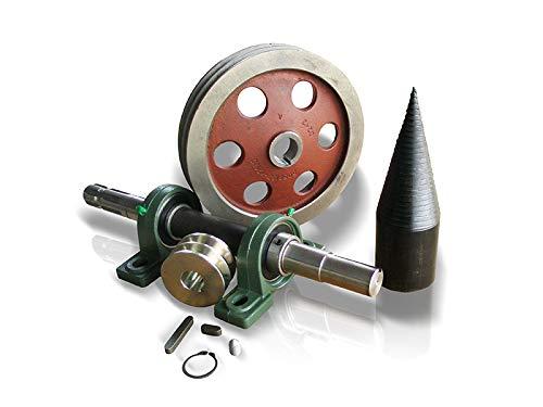 Ein Satz zum Bauen eines Holzspalters mit Elektroantrieb sowie Zapfwellenantrieb Kegelspalter, Drillkegel Ø80mm, Holzspalter, Bausatz mit Zapfwellenantrieb LT80/K/K