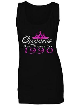 Queens nacieron en 1990 camiseta sin mangas mujer y36ft