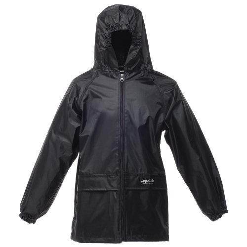 Regatta Kids Unisex Stormbreak Jacket (Waterproof & Windproof) (11-12) (Black)