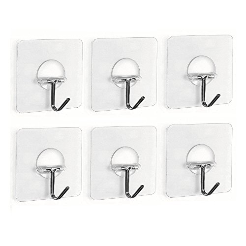 fealkira-132lb-6kgmax-nail-free-transparent-reusable-heavy-duty-wall-hooks-for-towel-loofah-bathrobe
