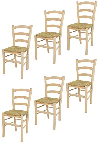 Tommychairs sillas de Design - Set 6 sillas clásicas Venice para Cocina,...