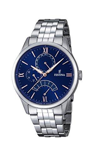 Festina F16822/3 orologio al quarzo da uomo, quadrante blu, display...