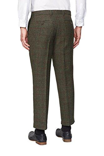 next Hommes Pantalon À Carreaux Coupe Large Vert