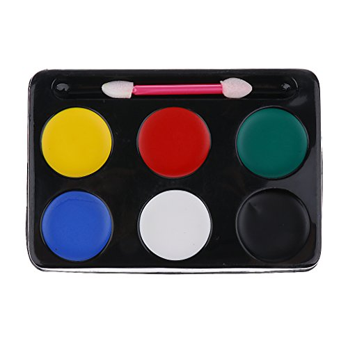 n Gesicht Malen Clown Malerei Dämon Palette Halloween Make Up Tools ()