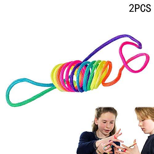 Xiton Regenbogen Spielzeugseil Finger Seil (2er Pack) -
