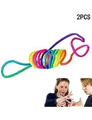 Xiton Corde à Doigts Rainbow Toy (Paquet de 2)