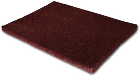 Keet Cozy Orthopedic Memory Foam Mat Chenille, 24 by 18-Inch, Burgundy