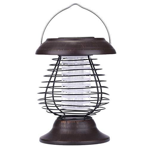VaNan Outdoor Solarleuchten Tragbare solarbetriebene UV Bug Zapper Repellant Pest Insekt Moskito-Mörder LED Gartenlampe und Laterne für Camping Wandern Hinterhof Outdoor (1 STÜCKE) 2 Watt