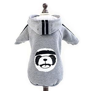 Ranphy Polaire Panda Sweat à capuche Hiver chaud Petit Chien Vêtements Sweat Veste Manteau pour animal domestique Chat Chiot Coatume Apparel