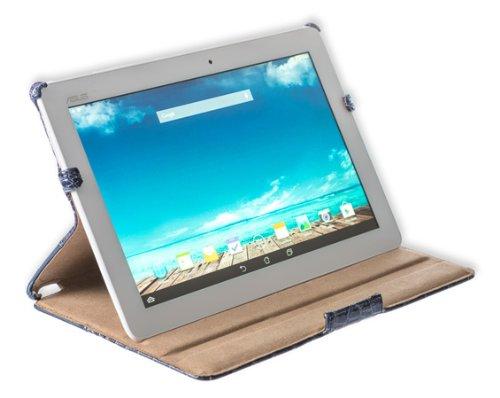 Cover Tasche von Gecko Covers für die Tablet ASUS MeMO Pad 10.1(ME102A) croco-blu scuro