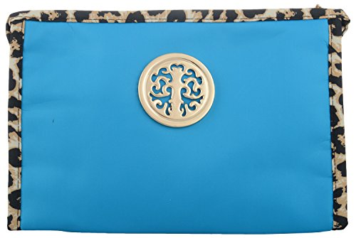 Bagaholics Multipurpose Clutch Handbag Organizer Travel Wallet Jewelry Pouch Toilet Bag (Turquoise)  available at amazon for Rs.235