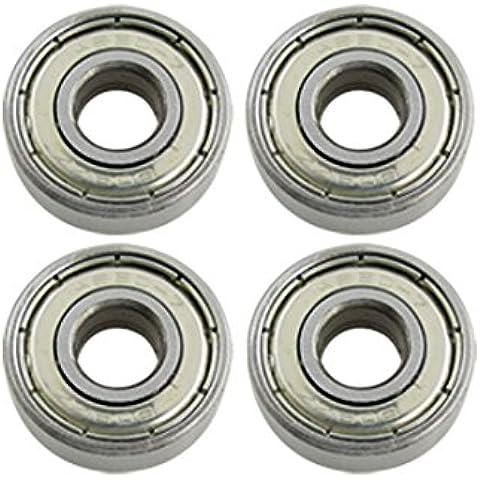 4 piezas de 22 mm de diámetro profundo surco en patines de ruedas rodamientos de bolas