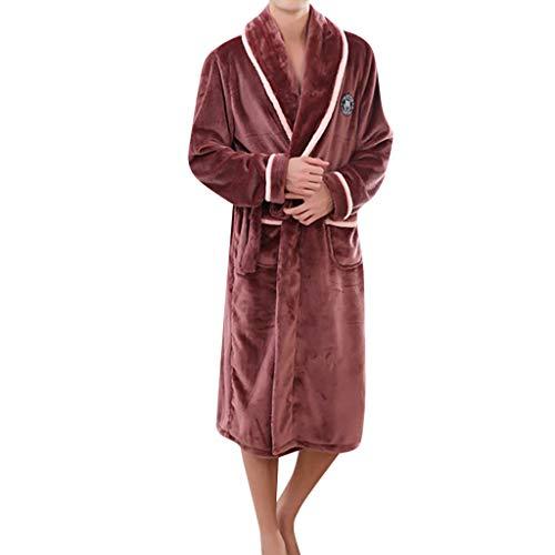 Lmmet accappatoio per uomo lungo scialle con cappuccio spugna microfibra tasche cintura regalo perfetto per palestra spa regalo pigiama addensato delle coppie