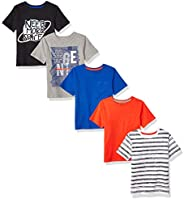 Marca Amazon - Spotted Zebra 5-Pack Short-Sleeve T-Shirts Niños