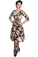 Hell Bunny Kleid BLACK DAHLIA 50'S DRESS 4377