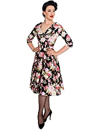 Hell Bunny Kleid BLACK DAHLIA 50'S DRESS 4377