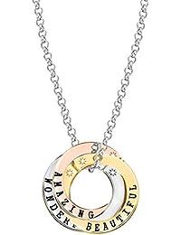Lily & Lotty Scripted Wonderful Beautful Amazing Multi Coloured Necklace - 20 EZlcG