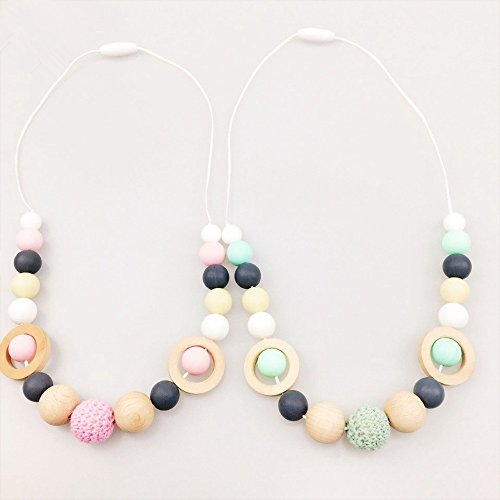 Mamimami Home Silikon-Armband-Baby-Zehner-kundengerechtes Krankenpflege-Werkzeug-hölzerner Ring-Nahrungsmittelgrad-Korn-Krippe-Spielzeug-Baby-Armband-Baby-Zettel-Spielwaren