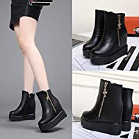 Cute girl Wedge Boots Children Increase In Autumn And Winter Fishing Platform Shoes Thick-Soled Boots Women