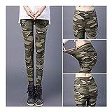Cisne 2013, S.L. Leggins para Mujer diseño Estilo Camuflaje Color Verde. Talla Única M/L. Pantalones elásticos Ajustables para Mujer diseño Camuflaje Verde Lisos. Talla M/L