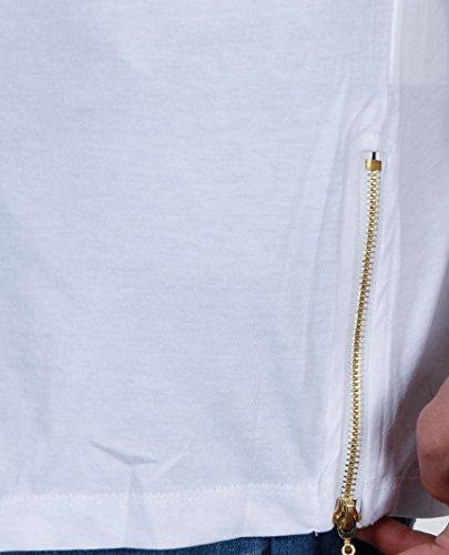 8001847fd3c8 ... Red Bridge Herren Golden Silver Boy Oversized Long T-Shirt Weiß (goldener  Reißverschluss)
