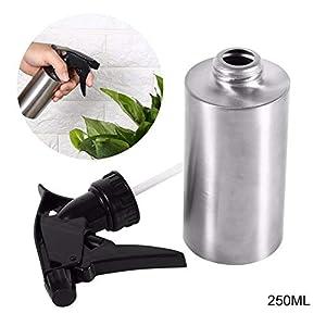 Romote Edelstahl-Handpressen-Bewässerungs-Sprühflasche Gießkanne Spray Kessel Flasche Gartenpflanzen Blume Wasser-Dosen (250 ml)