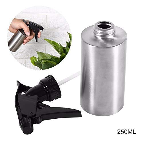 Edelstahl Wasser Kessel (JER Edelstahl Handpressen Bewässerungs Sprühflasche Gießkanne Spray Kessel Flasche Gartenpflanzen Blume Wasser Dosen |250 ml Home Zubehör)
