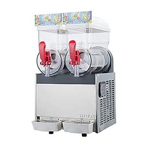 kostenloser Versand 2x15L Gewerbe Slushie-Maschine,gefrorene Slush-Maschine,Sommergetränk Maschine herstellen,Slushie-Maschine, Saftspender, Eiswürfelbereiter mit kompletter Kältemittel.