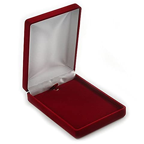 Luxury Burgundy Red Velour Brooch/ Pendant/ Earring/ Hair Accessories Jewellery Box