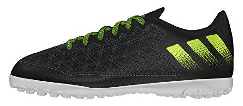 adidas Unisex-Kinder Ace 16.3 Cage Fußballschuhe Schwarz (core Black/solar Yellow/crystal White)