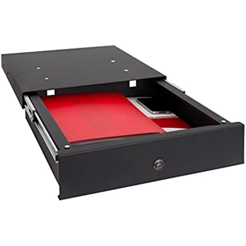 ARREGUI - Caja fuerte camuflada para zócalo de cocina, color negro