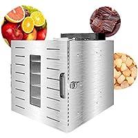 Deshidratador de frutas, cuerpo de acero inoxidable Secador de temperatura ajustable de 39 a 90 ° Cand para frutas frescas y secas Resistente a altas temperaturas Secador de frutas medianas de rejilla