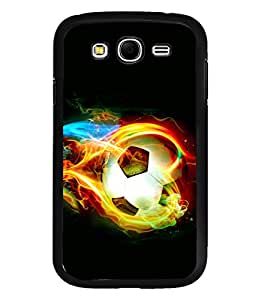 printtech Fire Football Back Case Cover for Samsung Galaxy Grand i9080:::Samsung Galaxy Grand i9082
