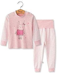 e77df35892 DOTBUT Kinder Zweiteiliger Schlafanzug, Junge und Mädchen Zweiteiliger Hohe  Taille Schlafanzug Langarm Pjs 100%