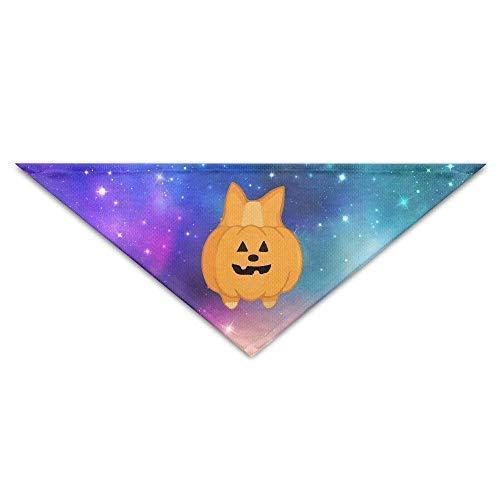 Gxdchfj Cute Halloween Corgi Pumpkin Baby Pet Dog Scarves Puppy Triangle Bandana Bibs Triangle Head Scarfs Accessories