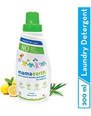 Mamaearth's Plant Based Baby Laundry Liquid Detergent, with Bio-Enzymes and Neem Extracts, 200ml