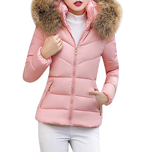 Quaan Frau Dick Oberbekleidung, Kapuze Mantel Kurz Schlank Baumwolle- gepolstert Jacken Pelz Winter Gefüttert Gesteppt Wolle Warm Künstlich Reißverschluss Draussen Mäntel