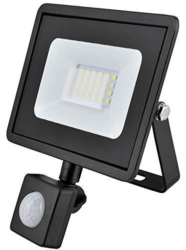 20w LED Flutlicht/Floodlight/Scheinwerfer 4000k - Schwarz mit Bewegungsmelder (Eveready s13949) -